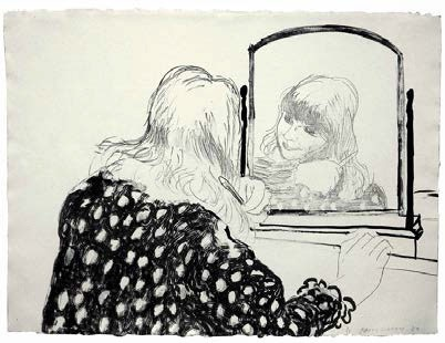 David Hockney 'Anne Combing Her Hair' from John Iddon Fine Art