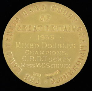 Wimbledon winners medal from 1935