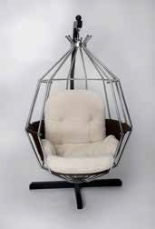 "An original Boris Tabacoff designed ""Sphere"" chair"