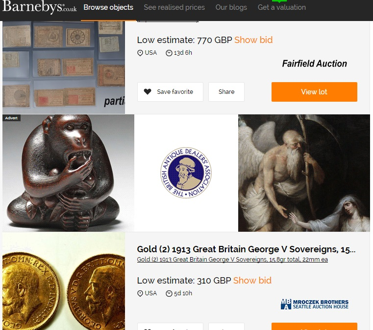Top ten tips for buying on online auction sites antique for Best online sale sites