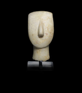Cycladic marble head