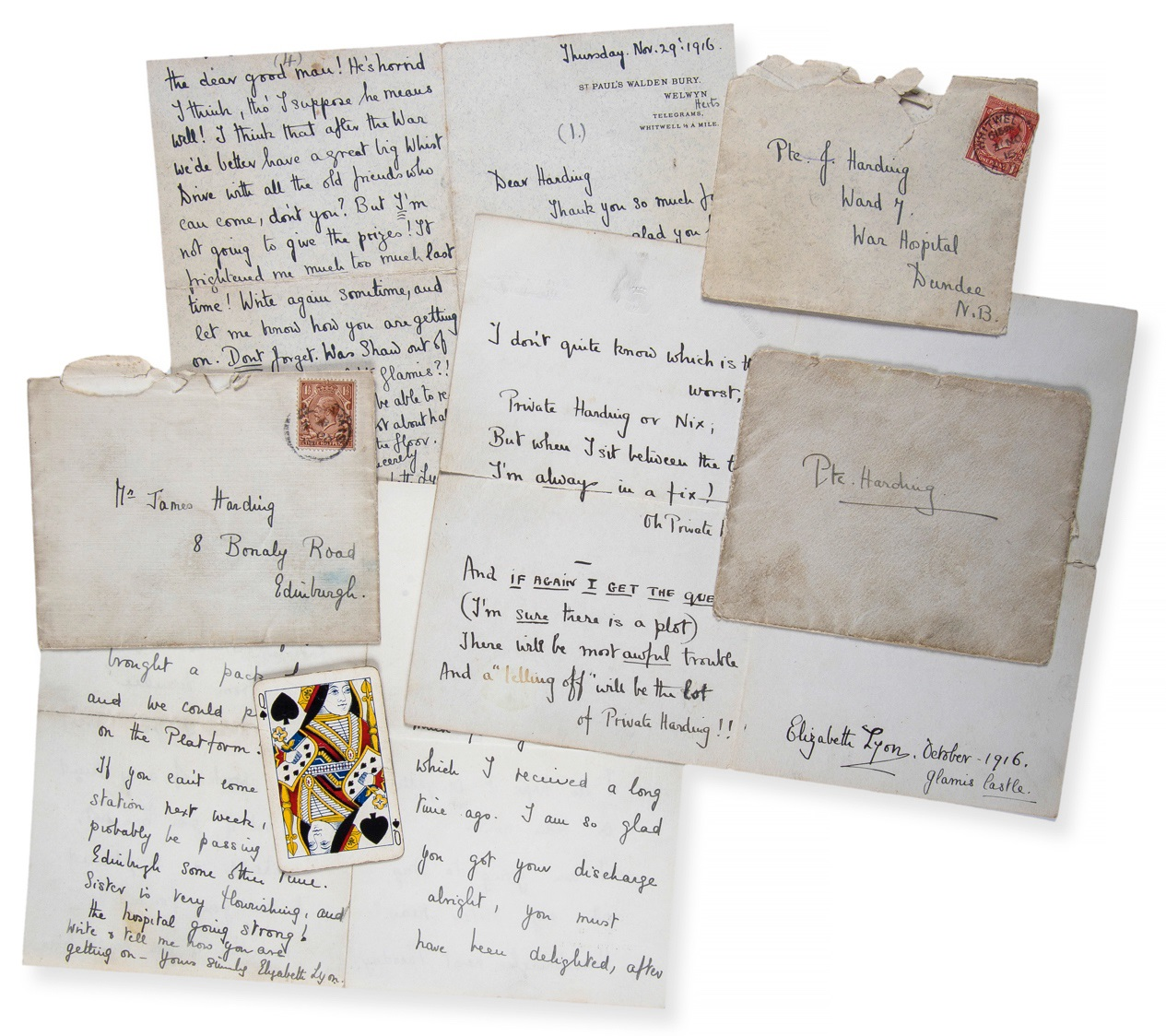 letters signed by Elizabeth the Queen Mother