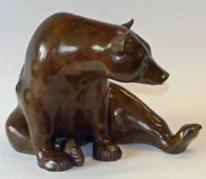 'Seated Bear' bronze, edition of twelve, £ 6,850 from Jonathan Knight Sculpture