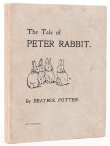 first edition of The Tale of Peter Rabbit