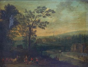 oil on copper Flemish School painting