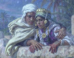 The Lovers by the French Orientalist painter Etienne Dinet