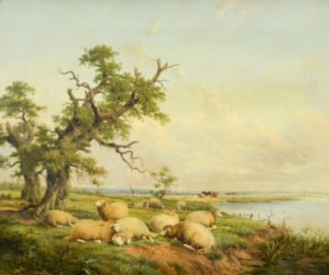 Thomas Sidney Cooper oil painting