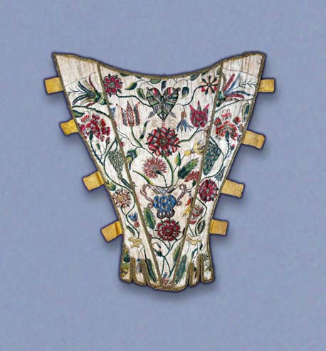 Boned stomacher, English, early 18th century