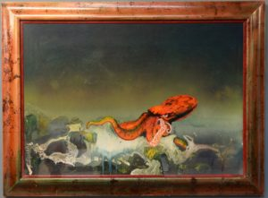 Original artwork by Roger Dean for prog rock band Gentle Giant