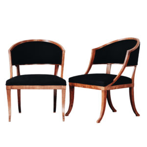 Swedish barrel back chairs