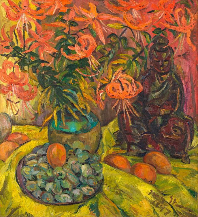 Still Life with Lilies by Irma Stern