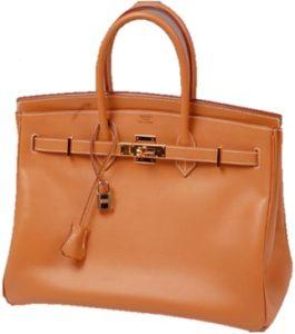 Hermès tan leather Birkin bag
