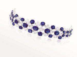 Burmese Sapphire and Diamond Bracelet