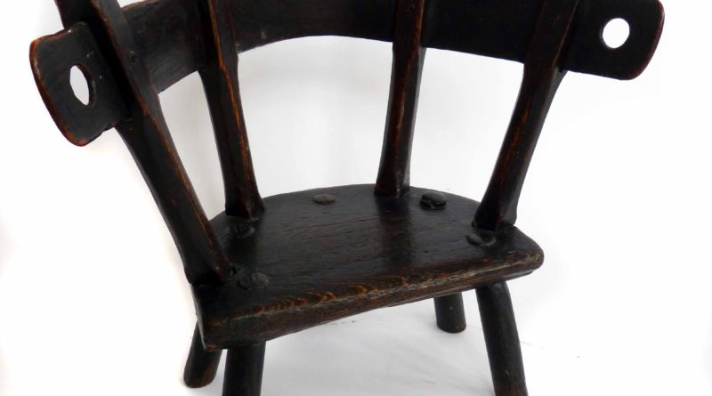 A Welsh ask and oak child's chair