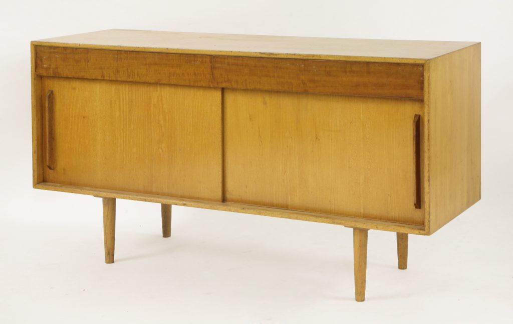 A teak 'Hilleplan' sideboard, designed by Robin Day for Hille, c.1950s