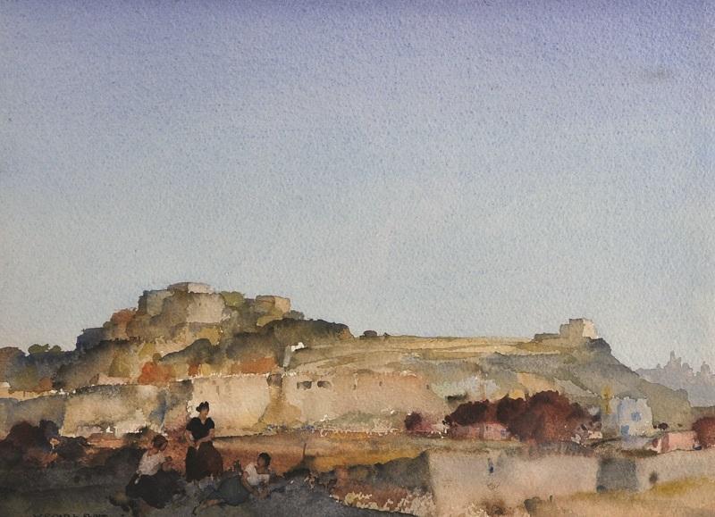 "William Russell Flint (1880-1969) British. ""Peaceful Evening, Malta"""