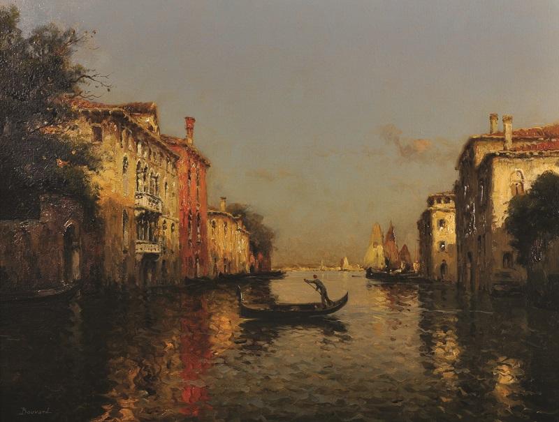 Antoine Bouvard (1870-1956) French. A Venetian Scene