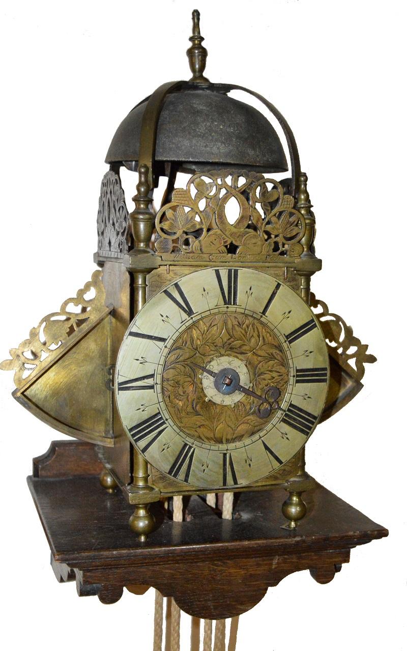 An antique lantern clock