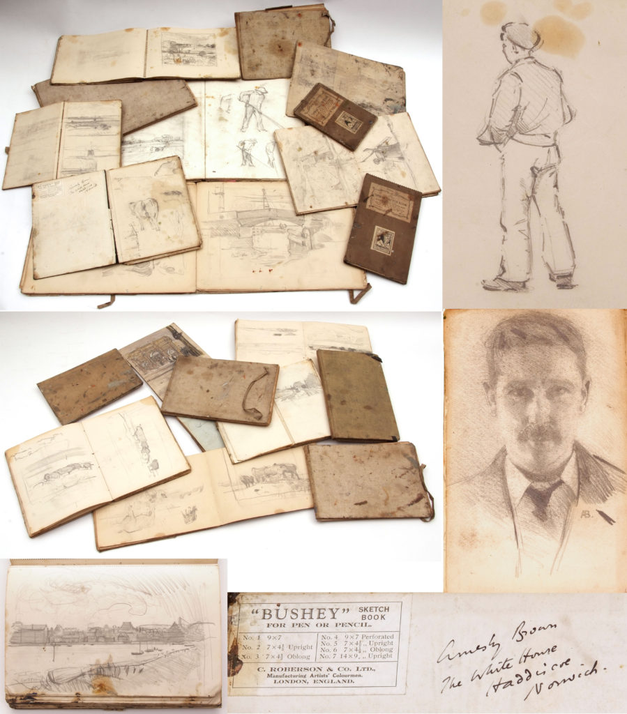 The notebooks of artist Sir John Alfred Arnesby-Brown
