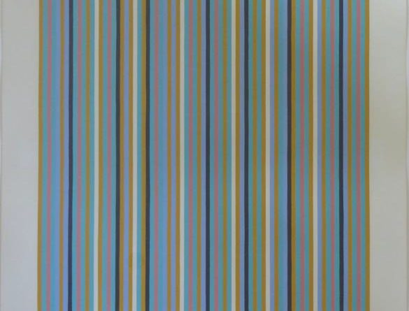 Four Colours, Black+White Visual Grey, Warm and Cold Yellow Sensation', signed and dated Bridget Riley