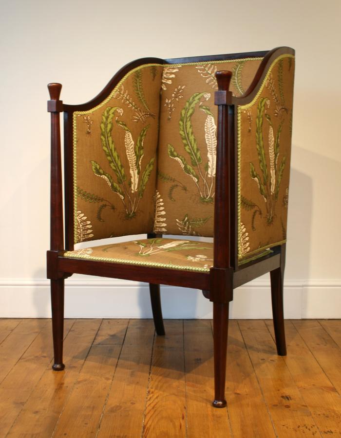 An antique porter's chair