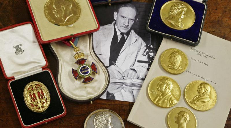 Medals belonging to belonged to Sir Robert Robinson