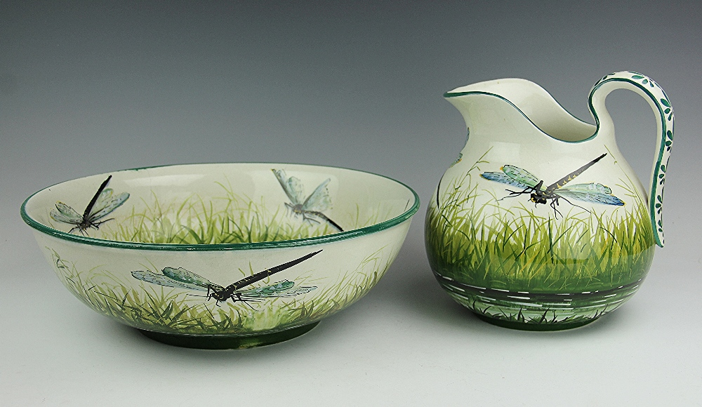 Wemyss dragonfly pattern Scottish pottery