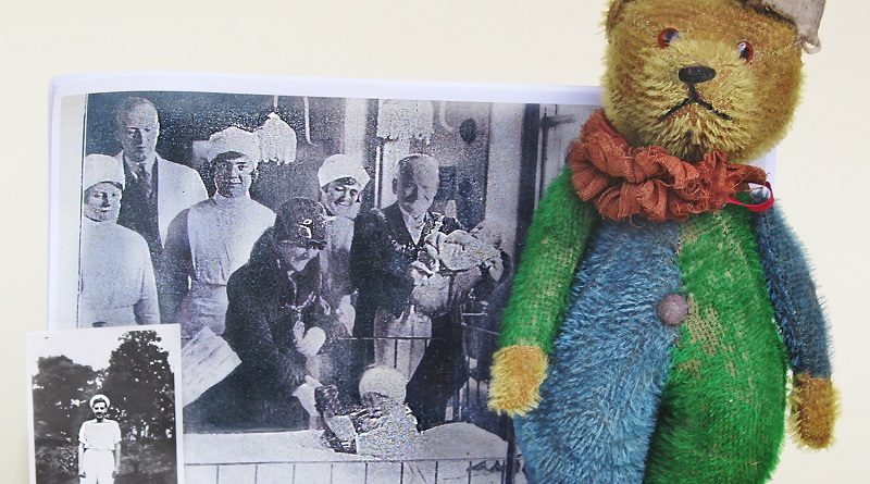 A rare antique teddy bear