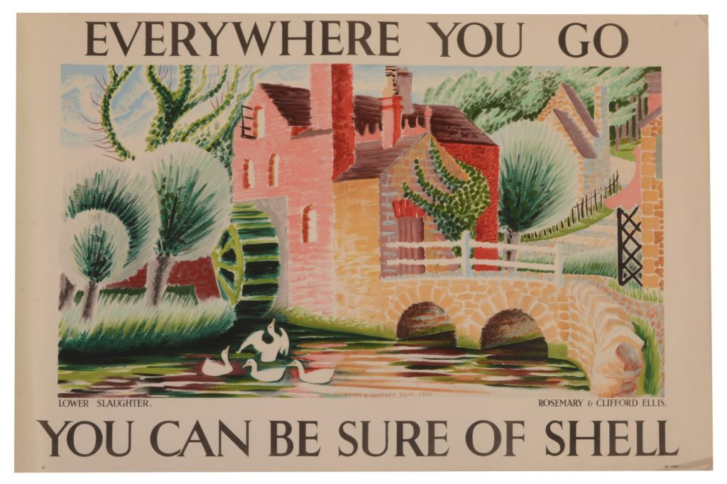 Clifford & Rosemary Ellis, Lower Slaughter, Colour lithographic poster