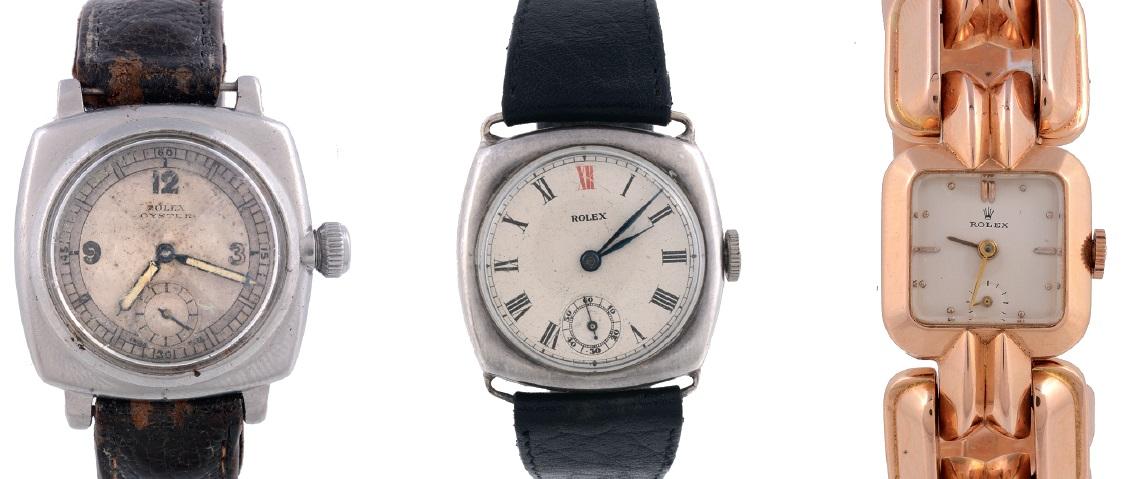 Three vintage Rolex watches