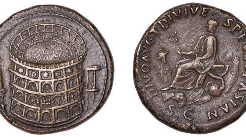 A pair of Roman coins
