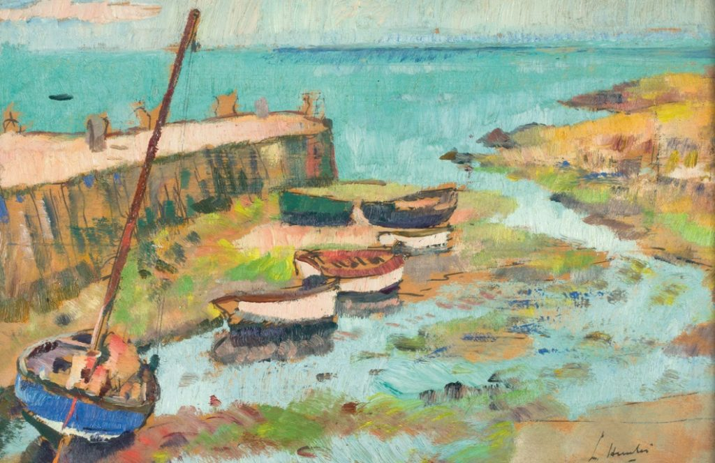 G.L. Hunter (1879-1931), Boats in Harbour
