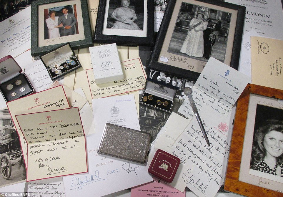 Letters and memorabilia from Princess Diana and the Royal Family