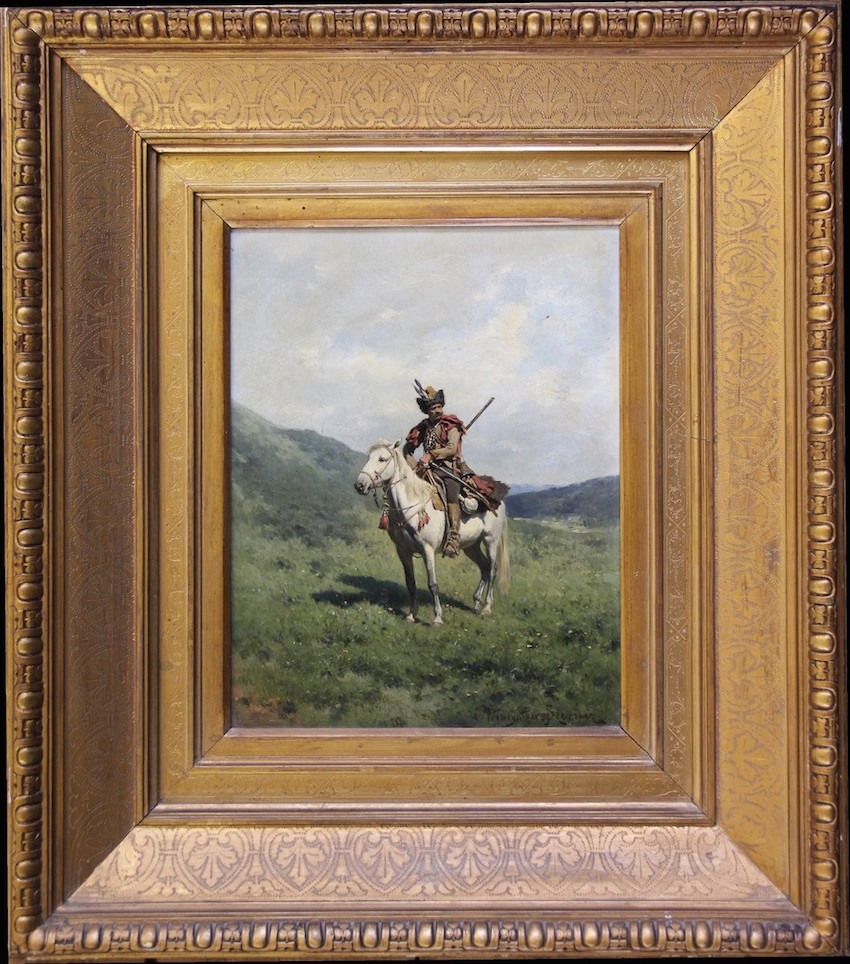 Oil painting of a Cossack