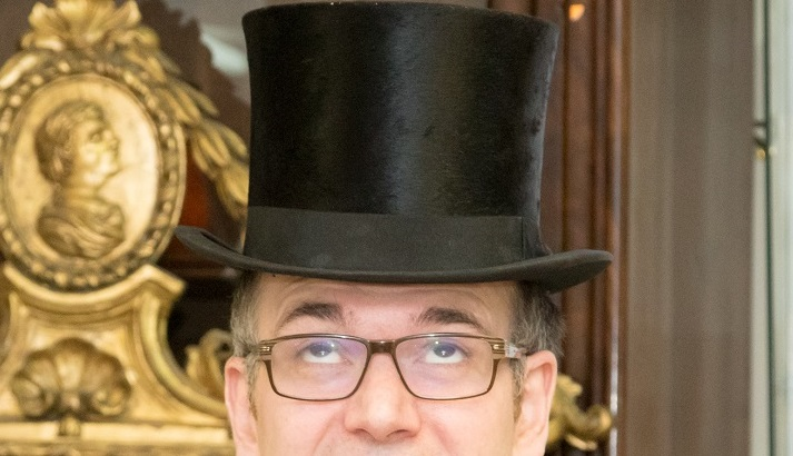 Charles Hanson in a top hat