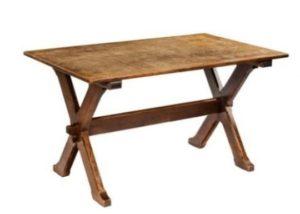 Arts & Crafts gothic-style oak table, English c1910