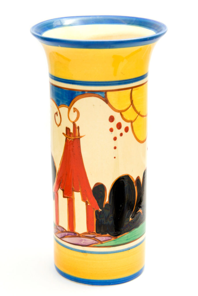 Clarice Cliff for Newport Pottery, a Summerhouse vase