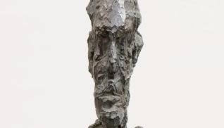 Alberto Giacometti (1901-1966) Buste d'homme sur tige c.1954
