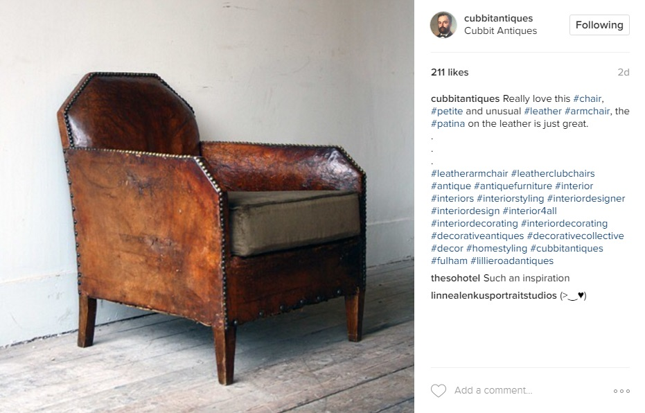Instagram images from Cubitt Antiques