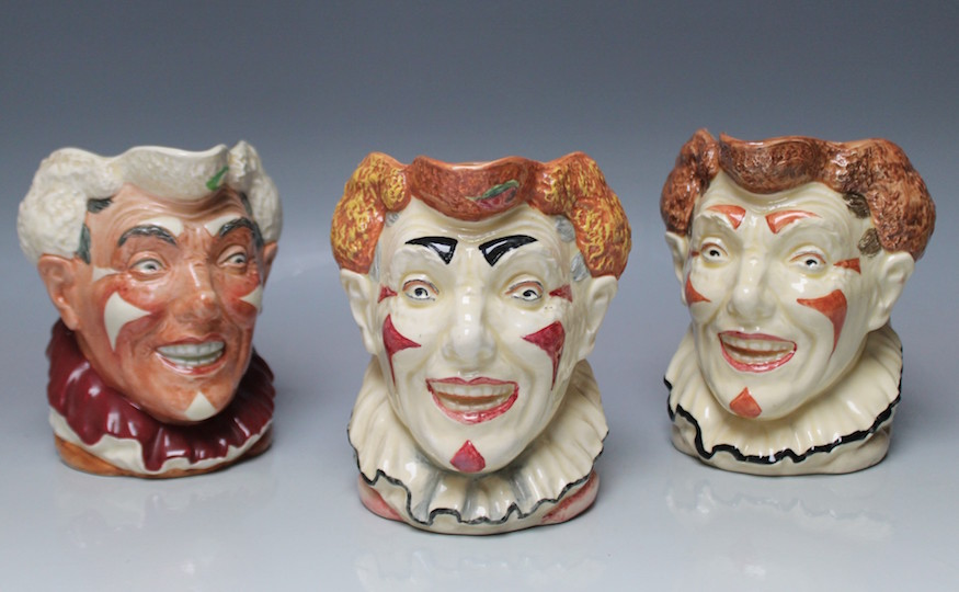 Royal Doulton clown heads