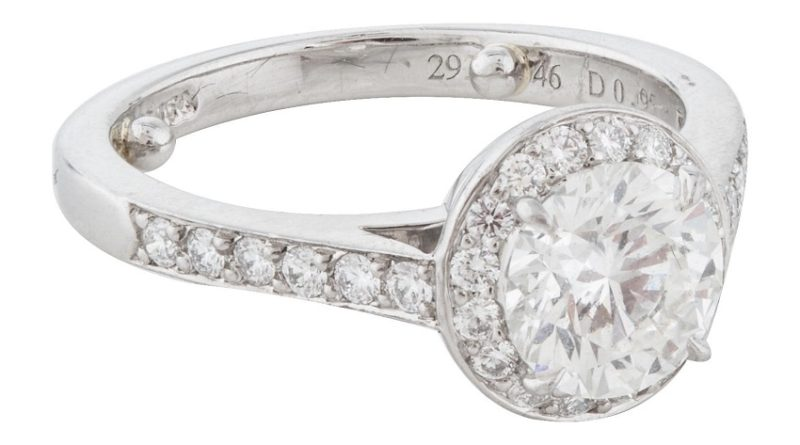 A Tiffany halo ring