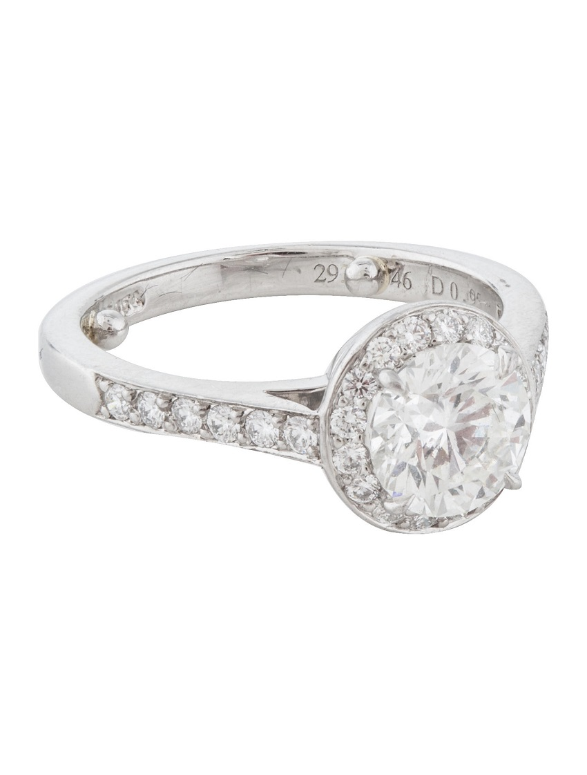 A Tiffany halo ring