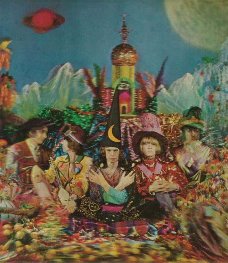 3-D lenticular cover of the Stones experimental album Their Satanic Majesties Request