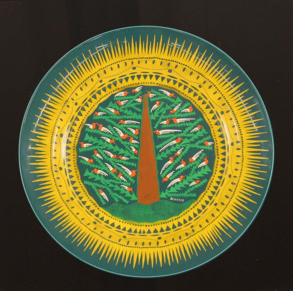 A plate by outsider artist Scottie Wilson