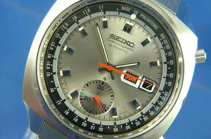 A vintage Seiko Chronograph watch
