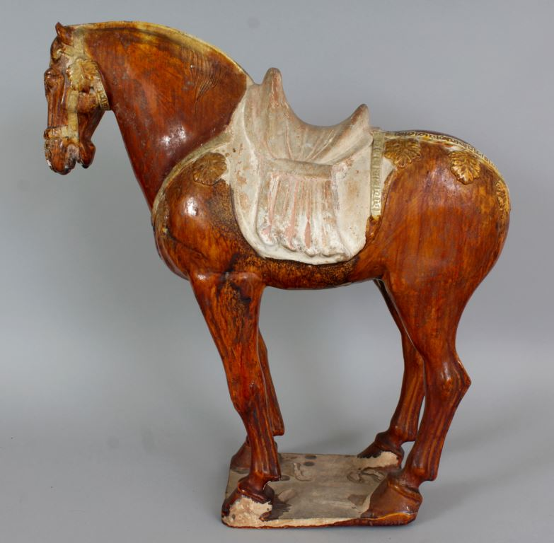 Antique Chinese pottery horse