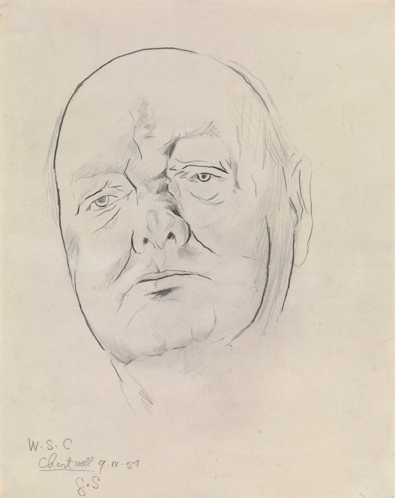 Christopher Kingzett  Study of Sir Winston Churchill