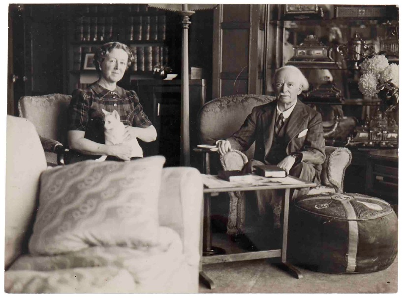 David Lloyd George and his second wife Frances Stevenson