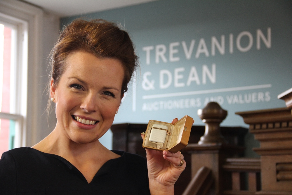 Faberge vesta case with Christina Trevanion
