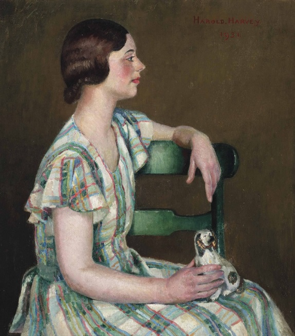 Harold C. Harvey (1874-1941), Study in Green, 1931. Oil on canvas
